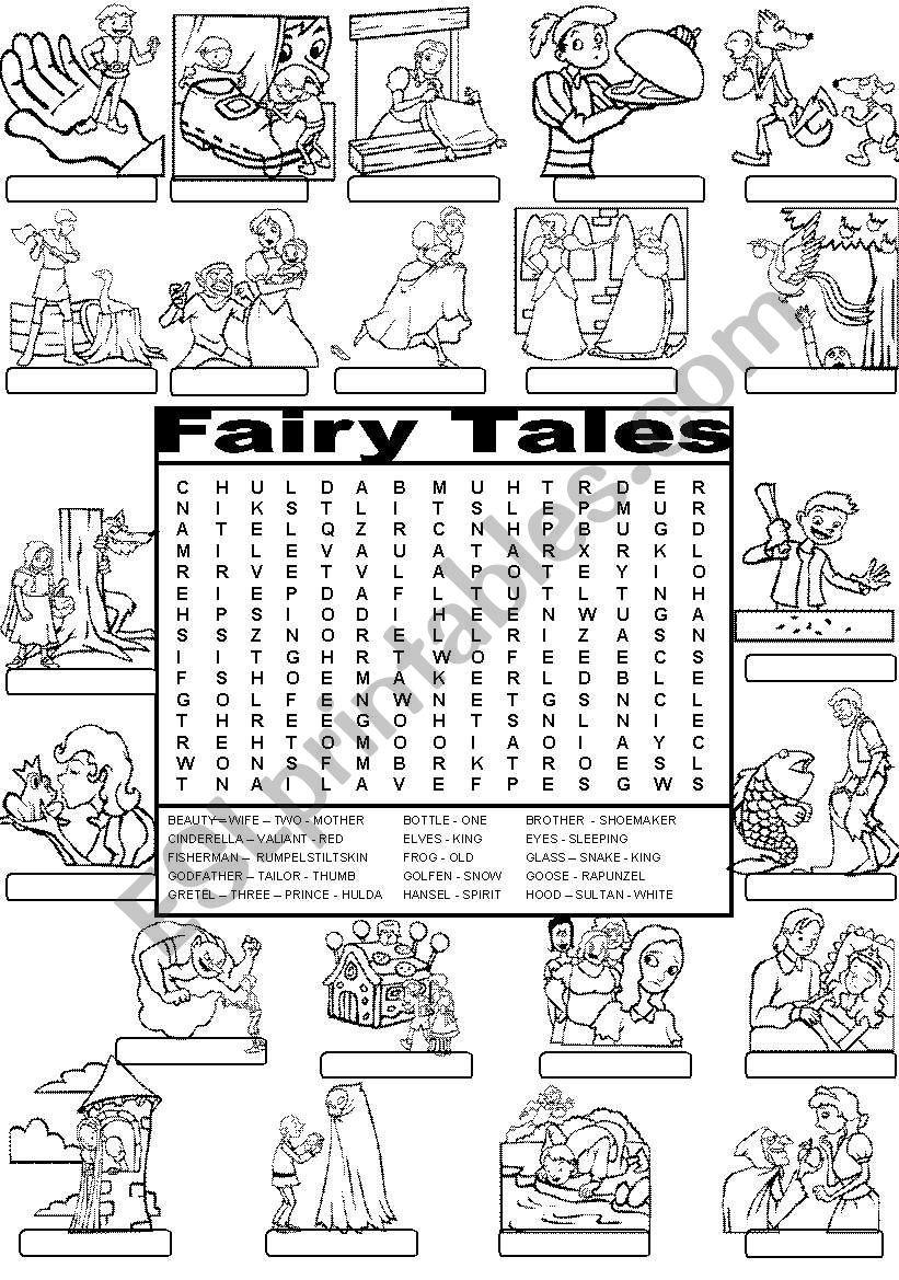 Wordsearch FAIRY TALES - ESL worksheet by Im Lety