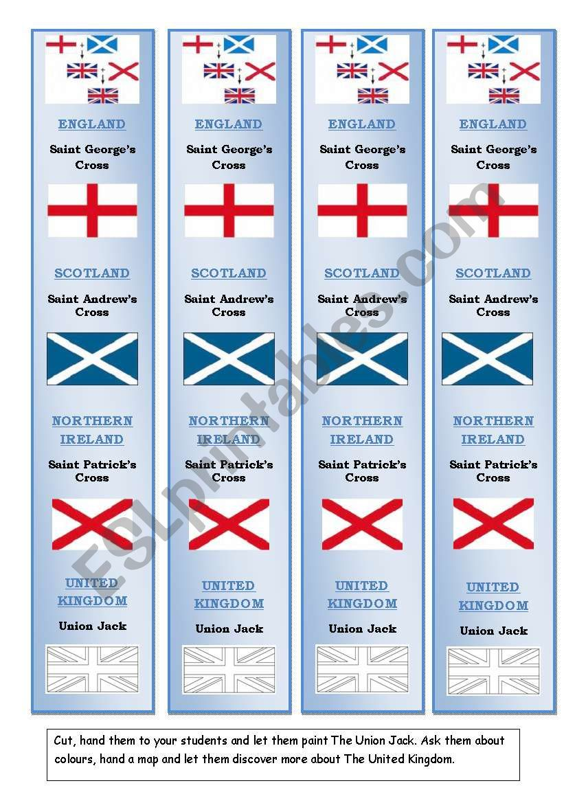 Bookmarks on British Culture  worksheet