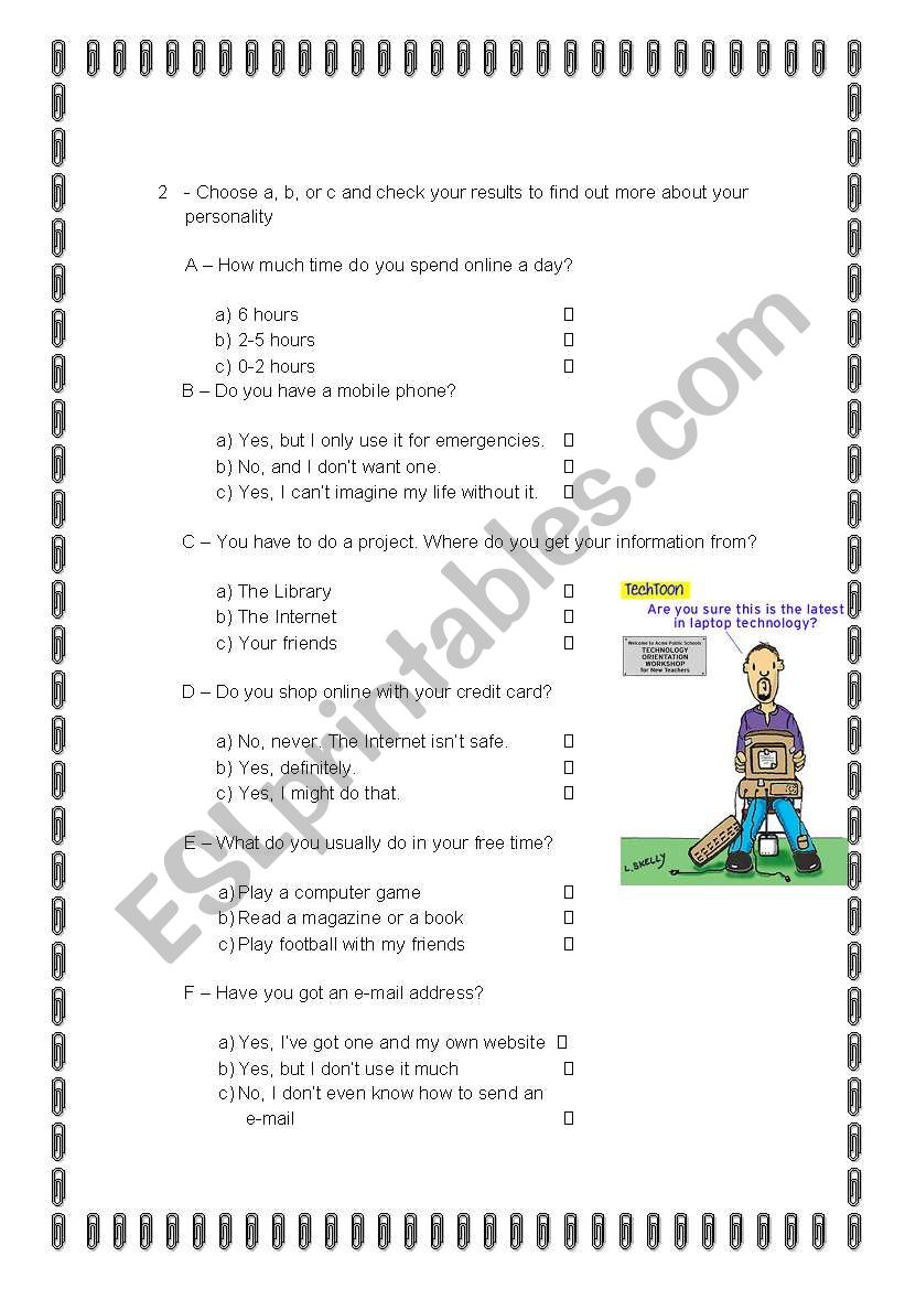 Are you a Techie? (2) worksheet
