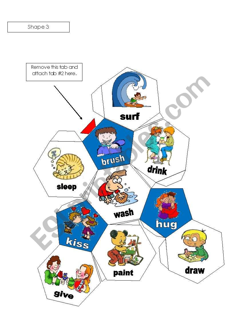 3-D Soccer Ball  with Verbs Part 2 of 2