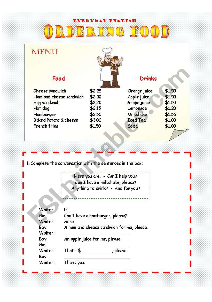 Everyday English - Ordering food in a café