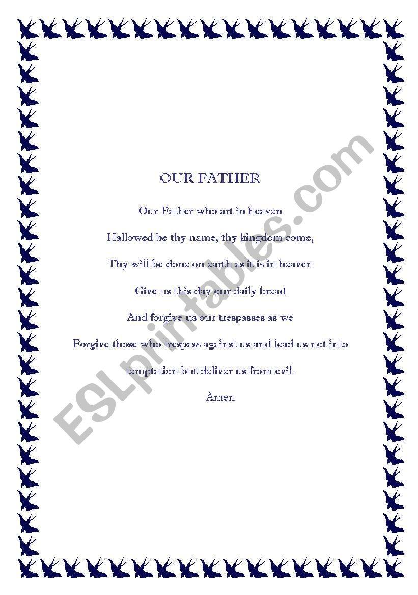 A special poem worksheet