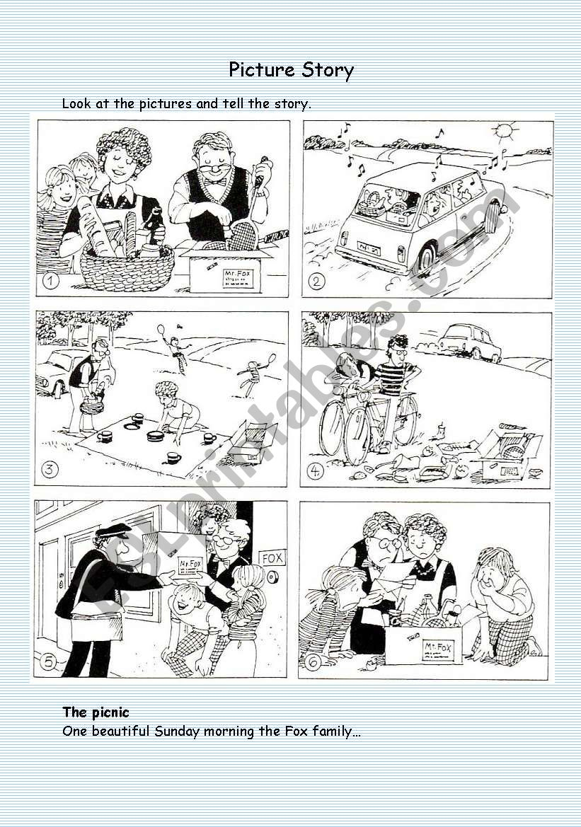 Picture Story Esl Worksheet By Nartenut