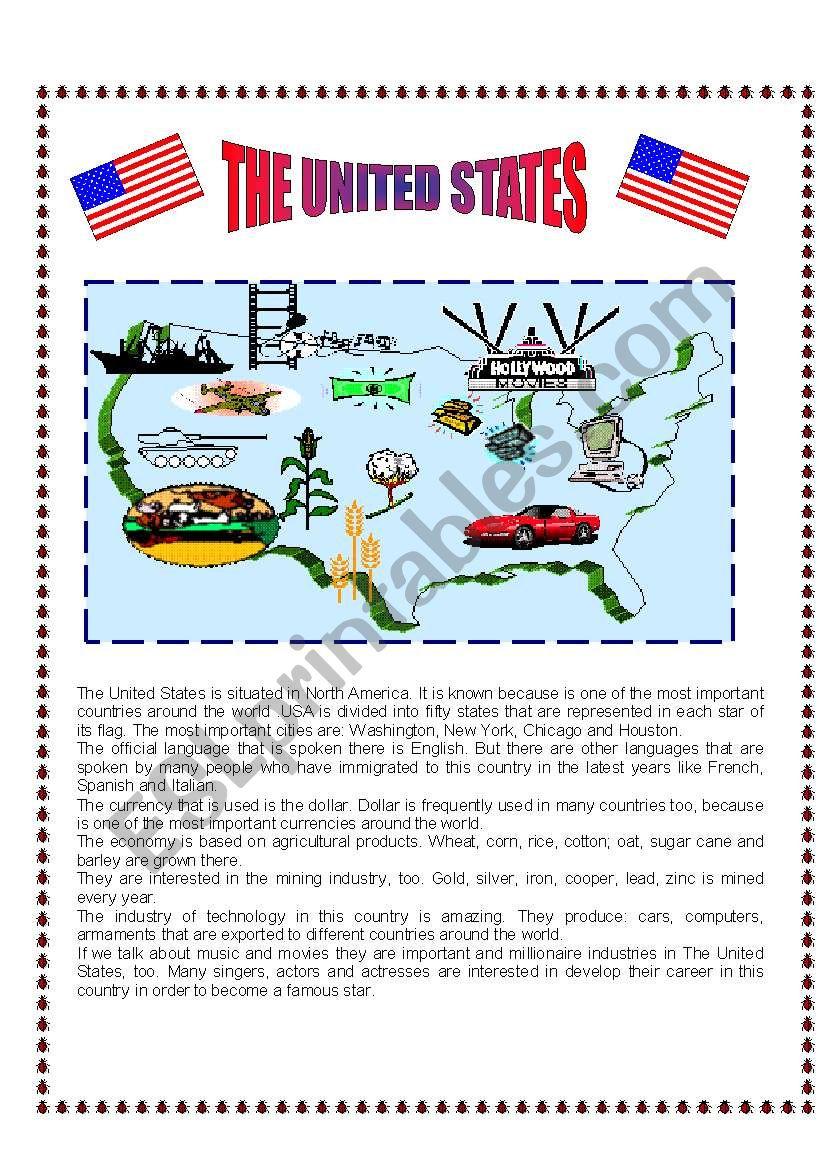The United States worksheet