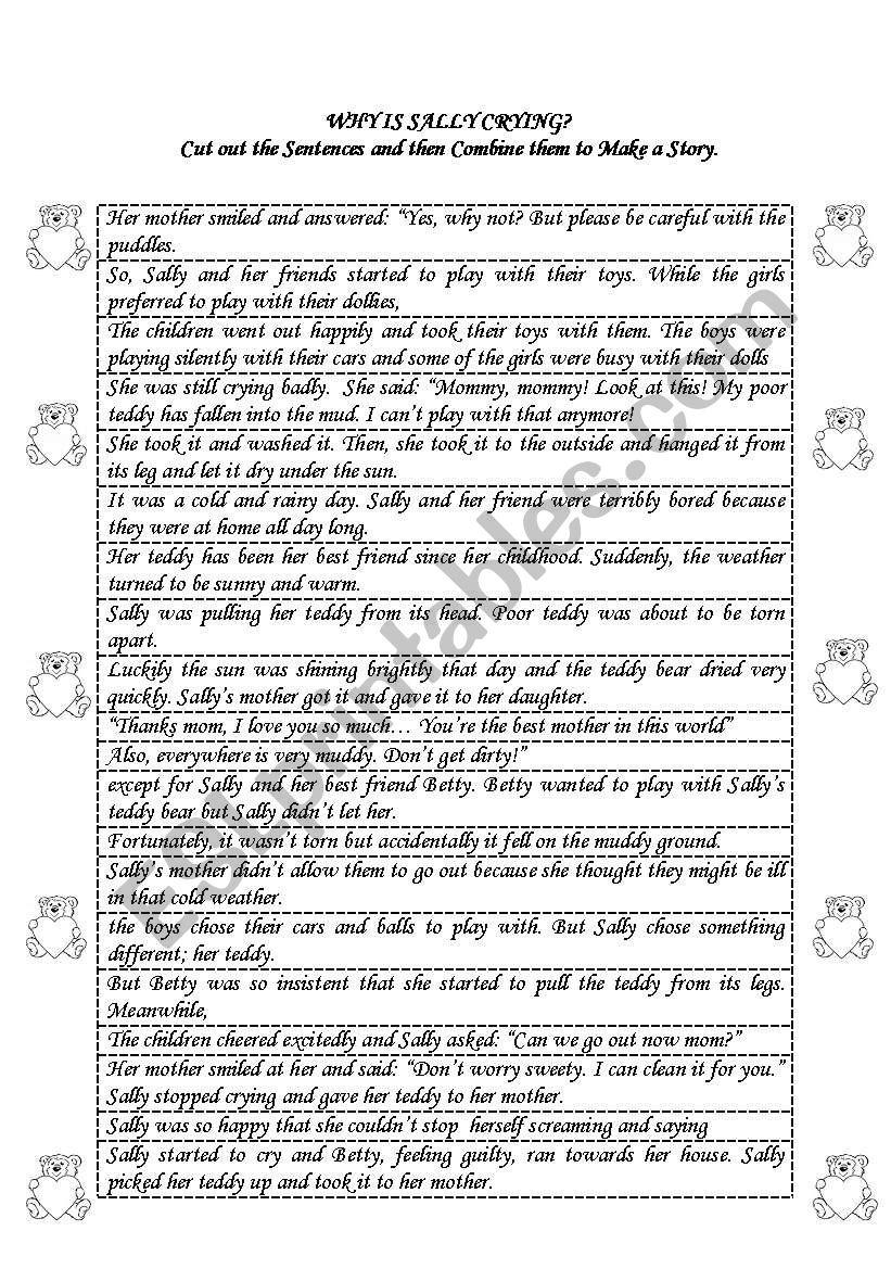 making a story worksheet