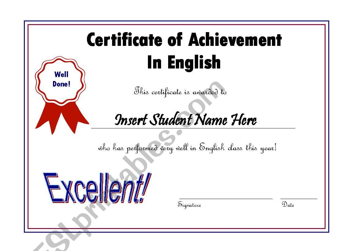 editable award certificate english maroon  blue