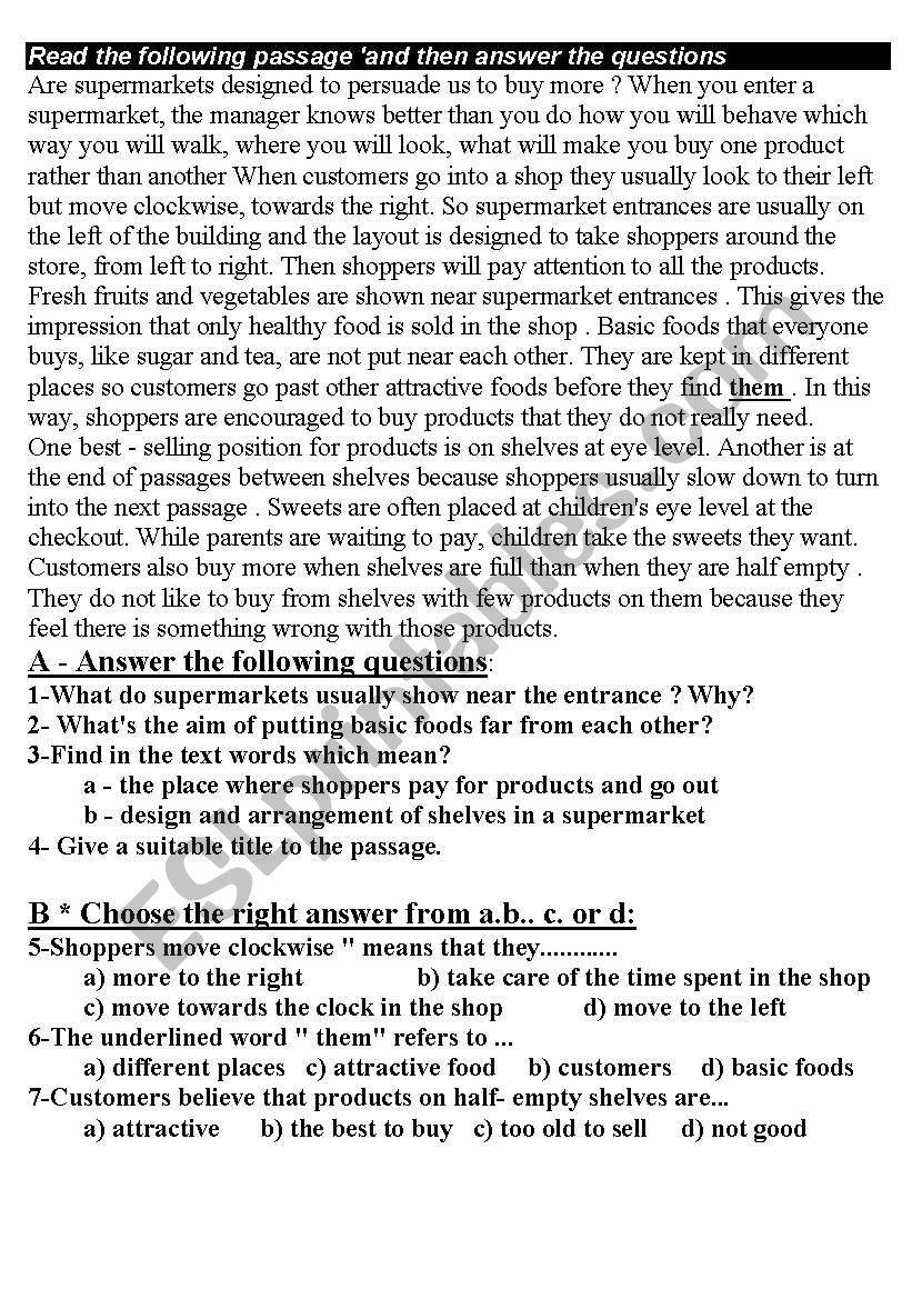 cpomprehention passages worksheet