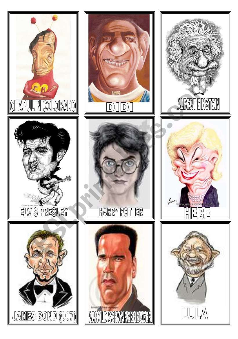 FAMOUS people CARICATURES game (3/3)