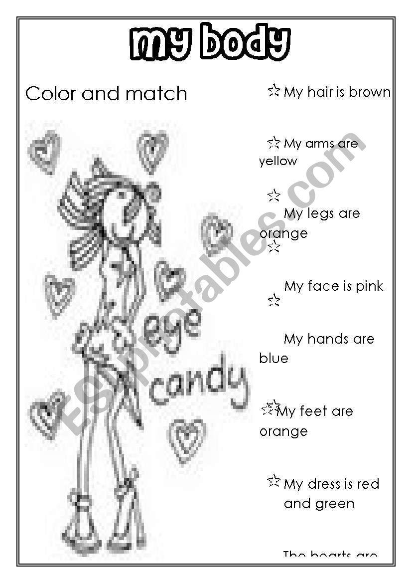 MY BODY (for girls) worksheet