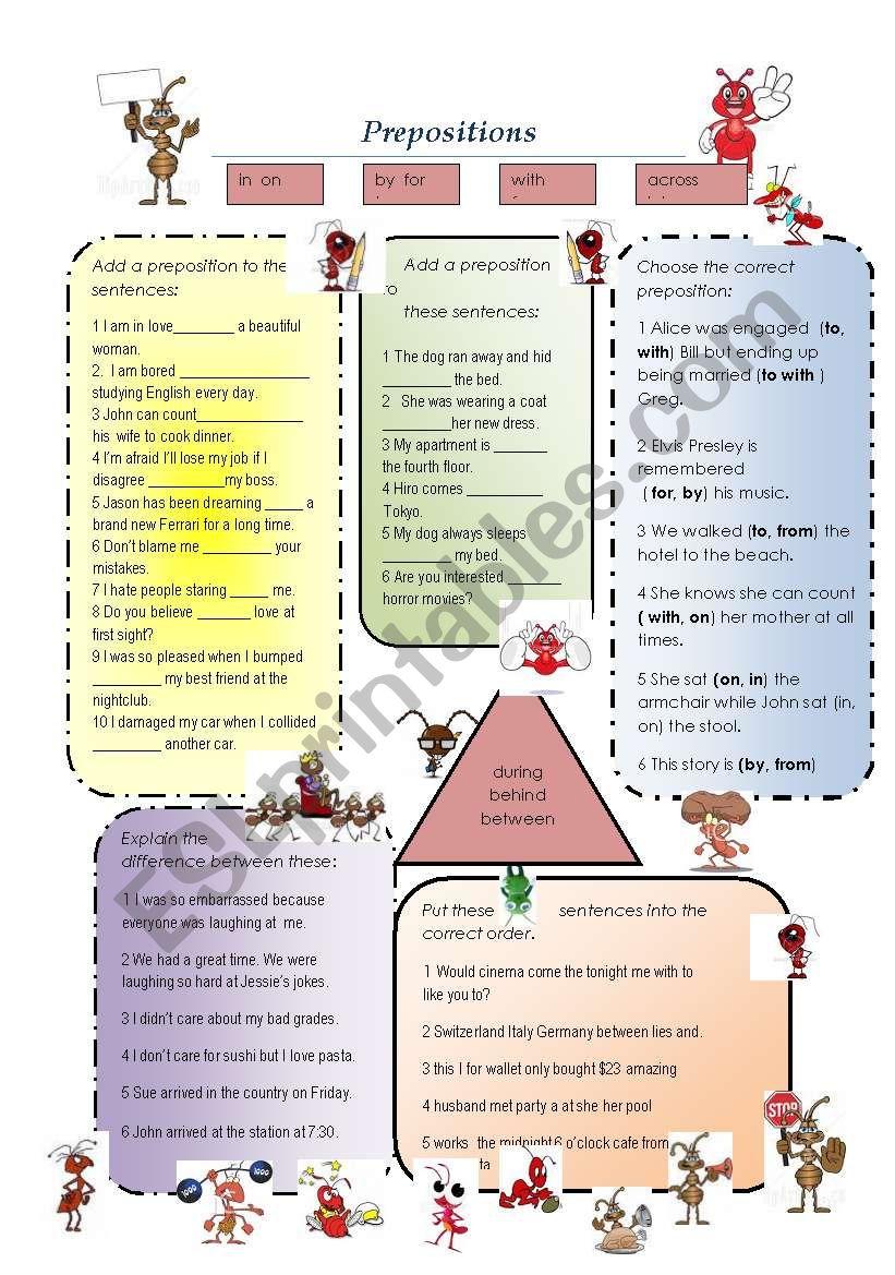 The Dreaded Preposition worksheet