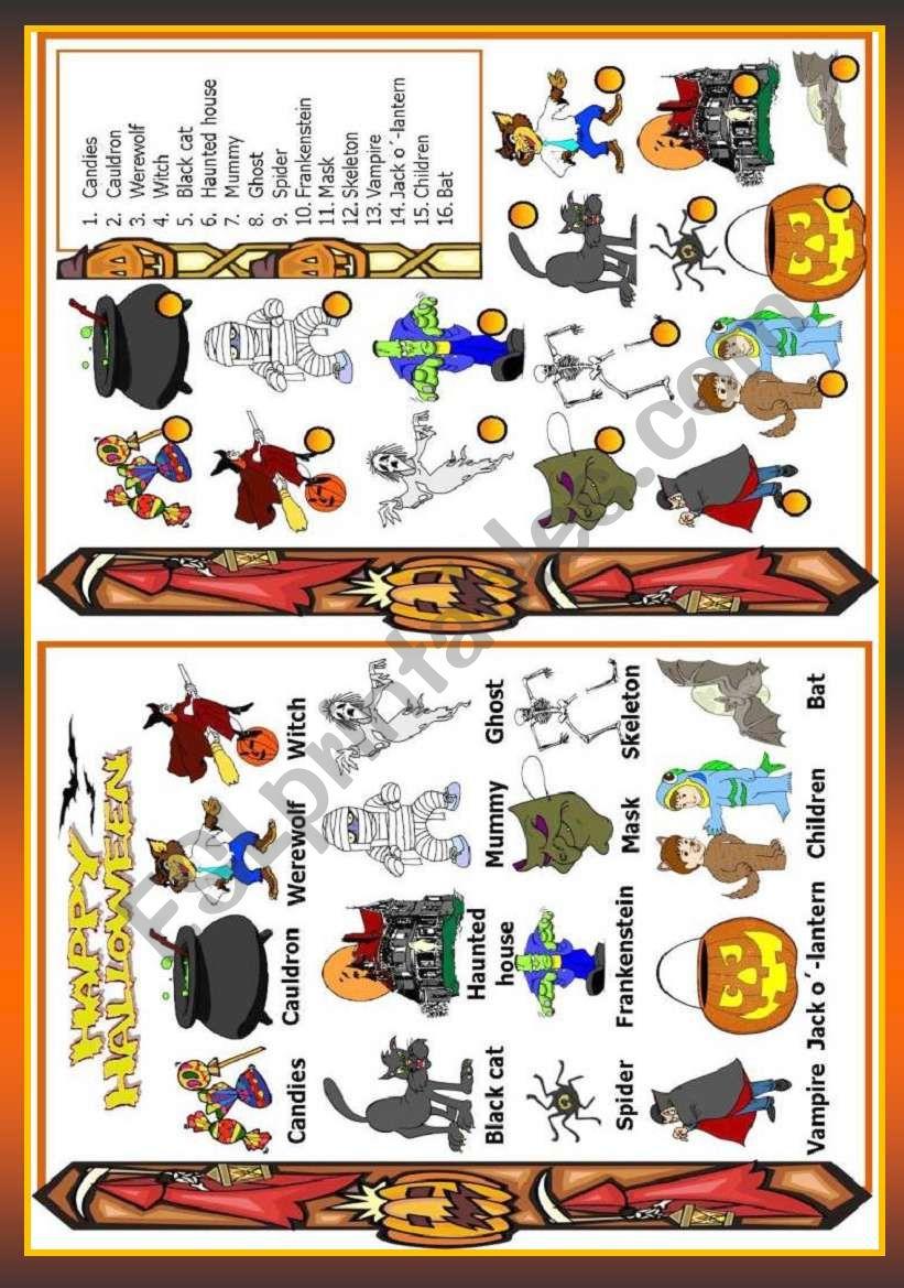 Holidays - Halloween worksheet