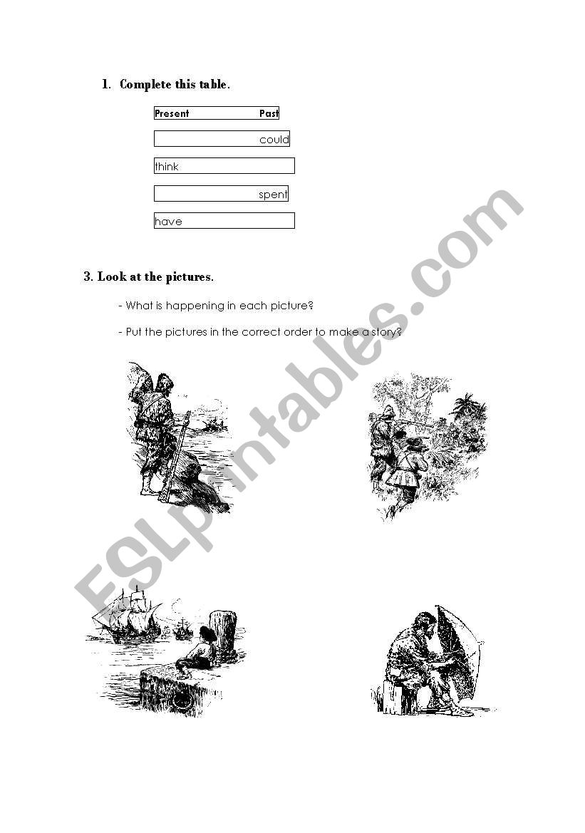 activities related to the book robinson crusoe