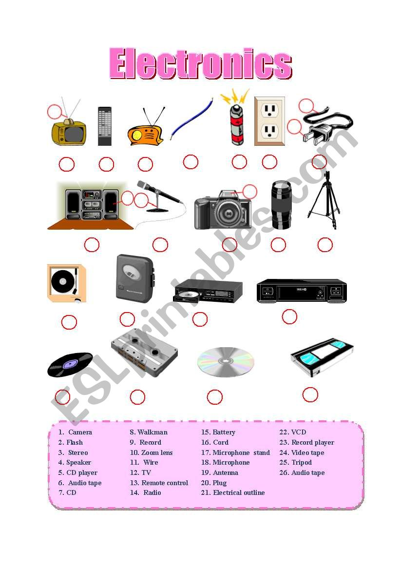 ELECTRONİCS - ESL worksheet by ilyusha