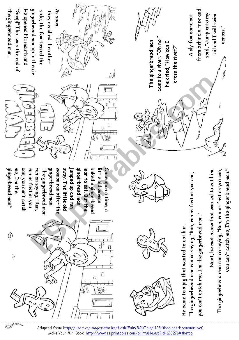 It is a graphic of Modest Gingerbread Man Printable Book