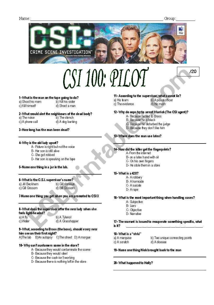 CSI Las Vegas episode 100-pilot