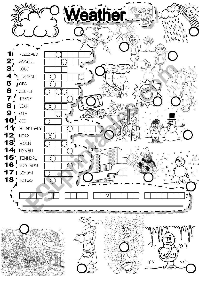 WEATHER PUZZLE worksheet