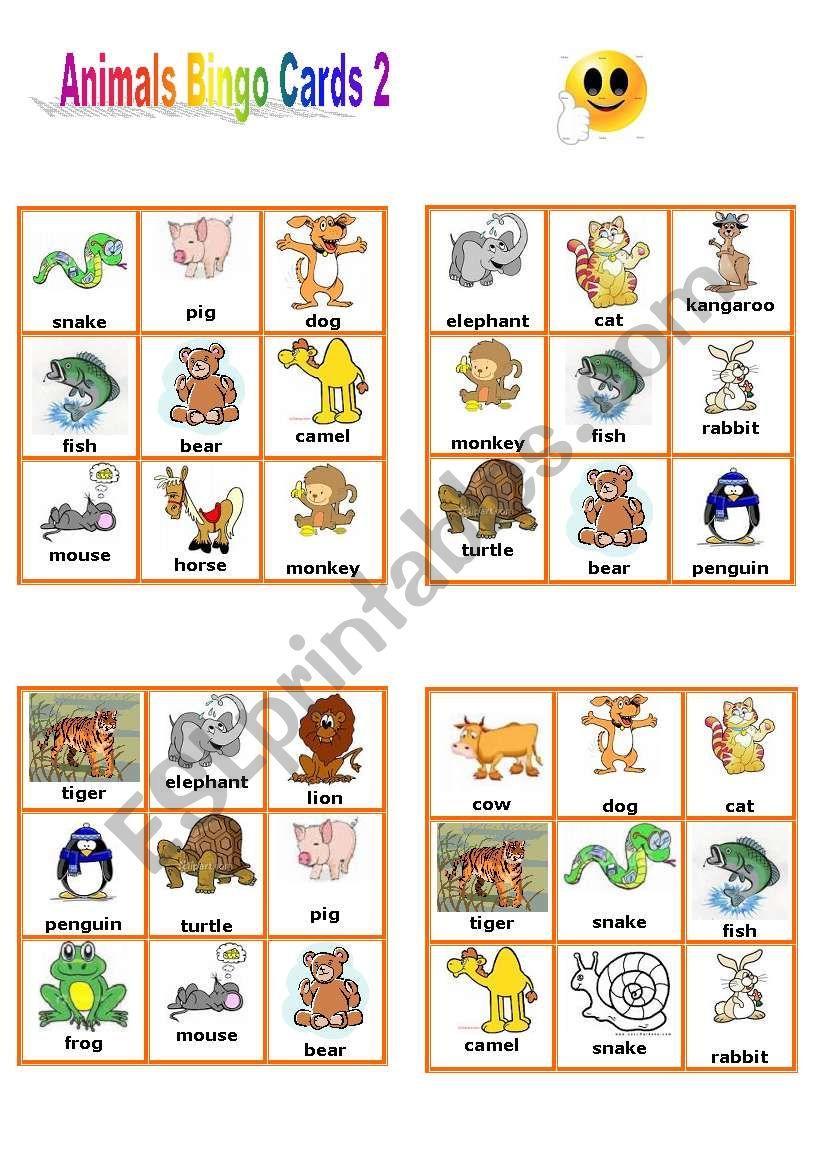 It is a graphic of Lucrative Animal Bingo Printable