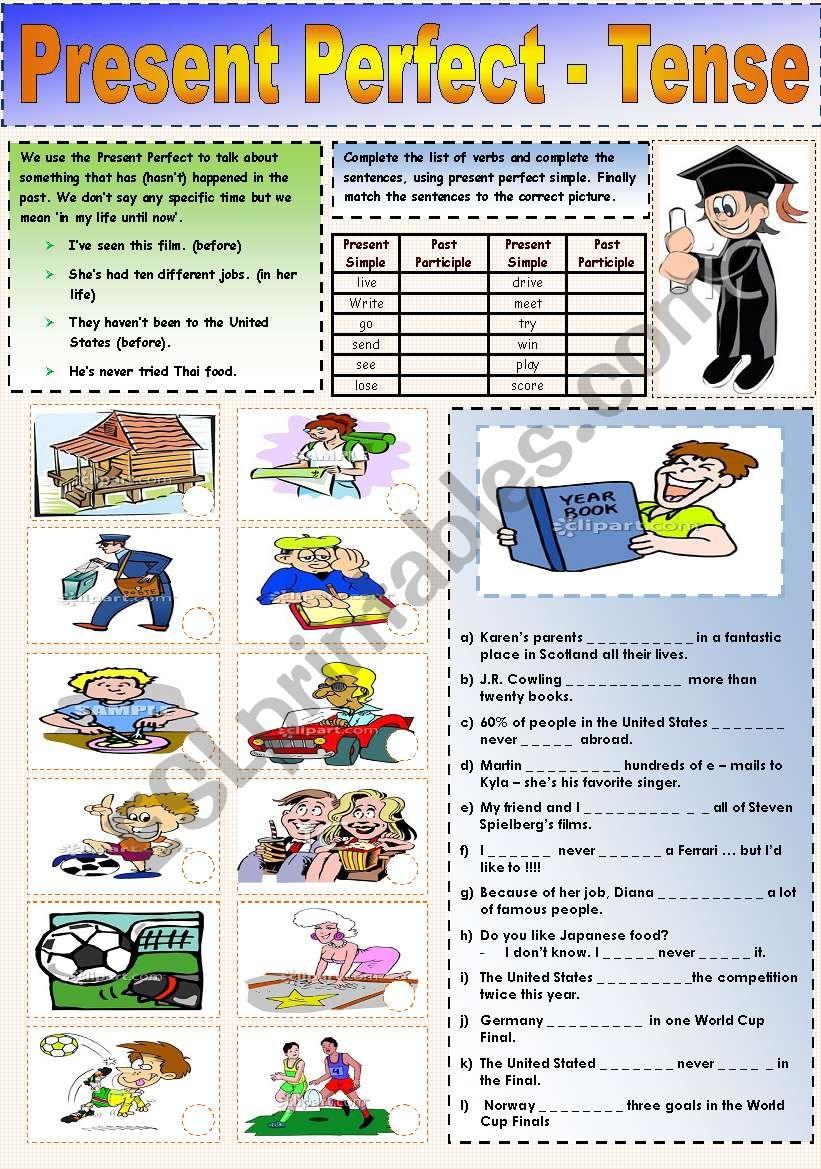 Present Perfect  - Tense worksheet