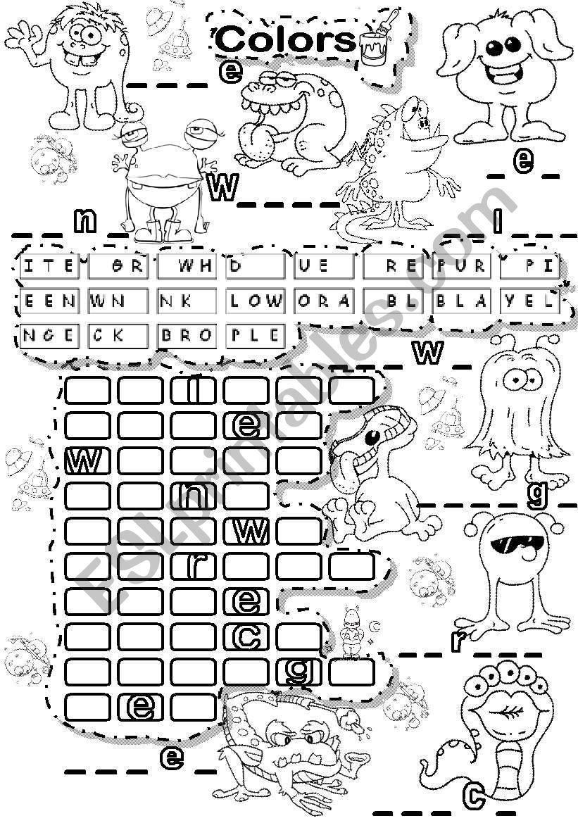 BASIC COLORS PUZZLE LETTER TILES