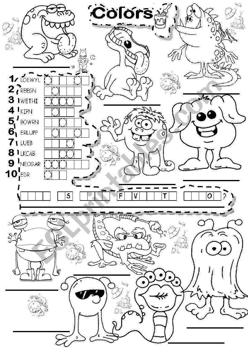 BASIC COLORS PUZZLE worksheet