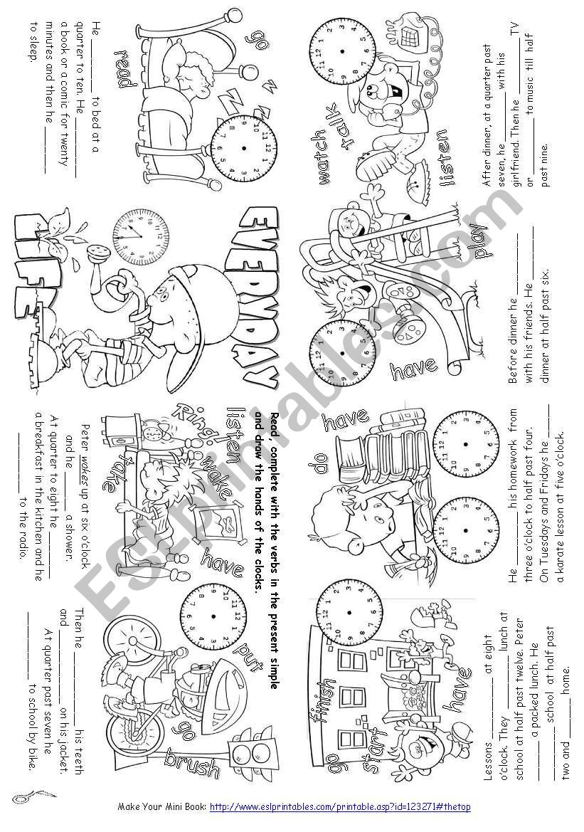 Everyday Life (Mini Book) worksheet