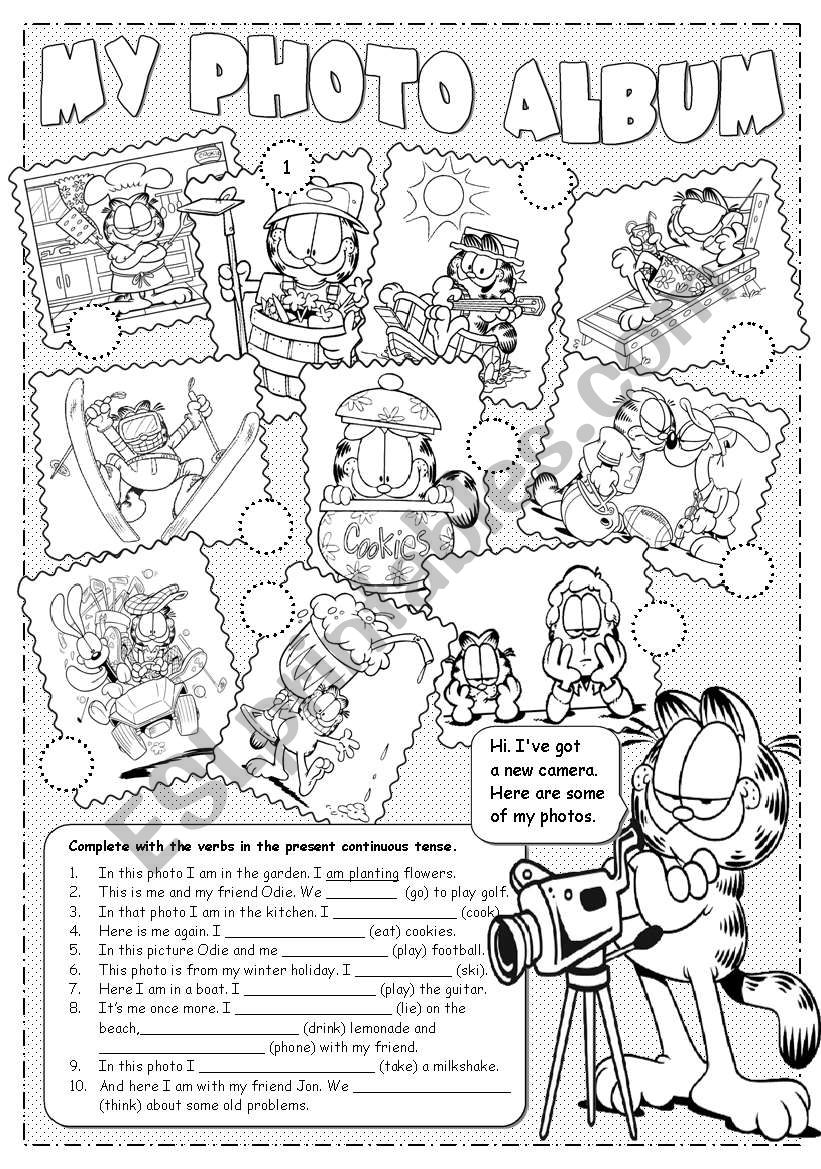 Garfield´s Photo Album  worksheet