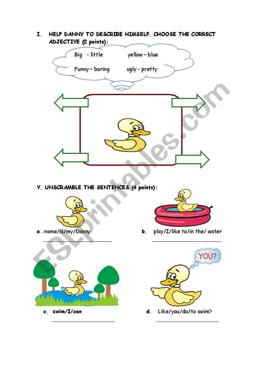 reading text activities worksheet