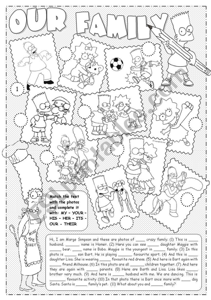 Simpsons (Possessive Adjectives)