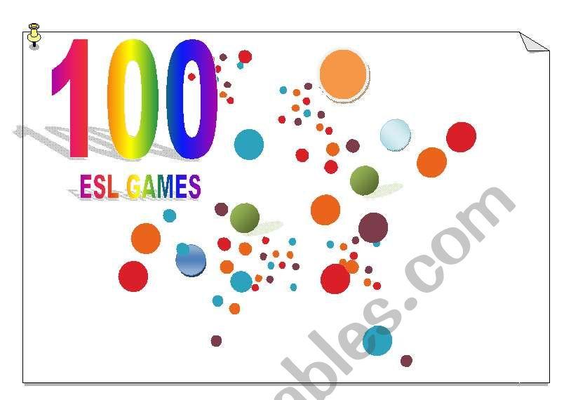 100 ESL GAMES worksheet