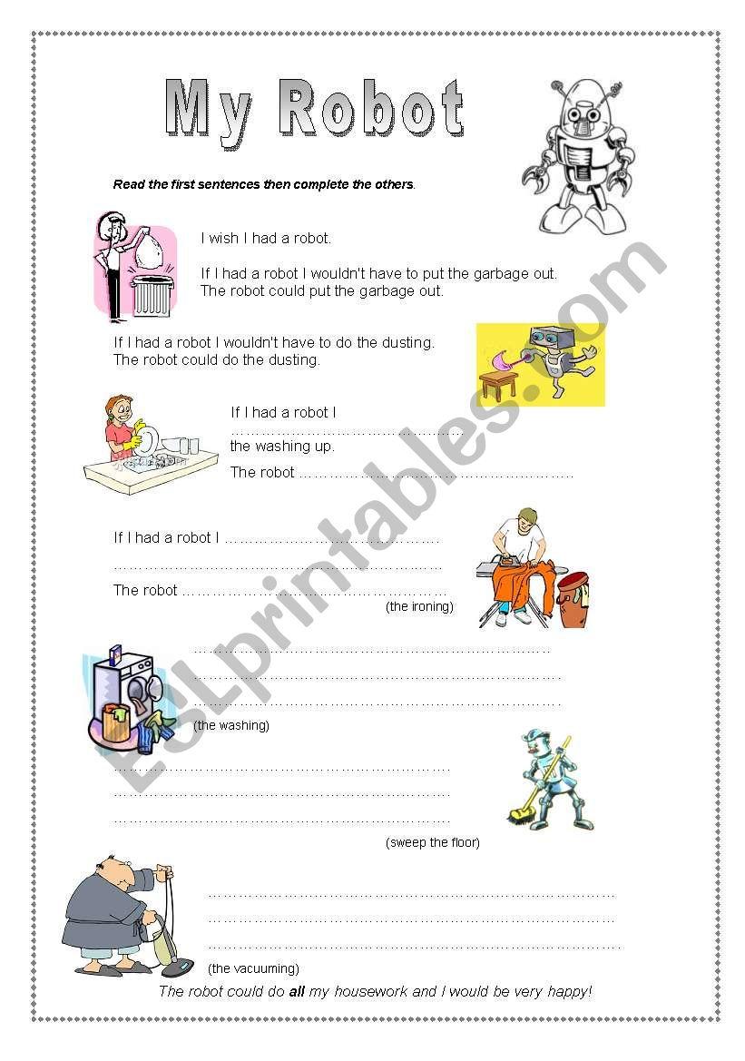 My Robot - Pre-intermediate worksheet