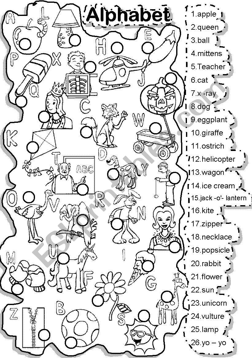photo about Alphabet Puzzle Printable referred to as ALPHABET Game and CRISS CROSS PUZZLE - ESL worksheet by way of Im Lety