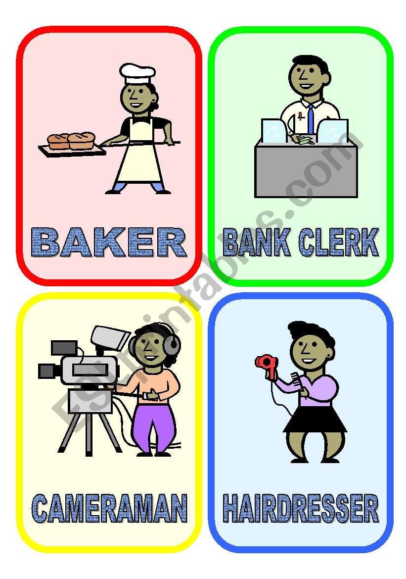 20 flash-cards: JOBS & PROFESSIONS (1/3)