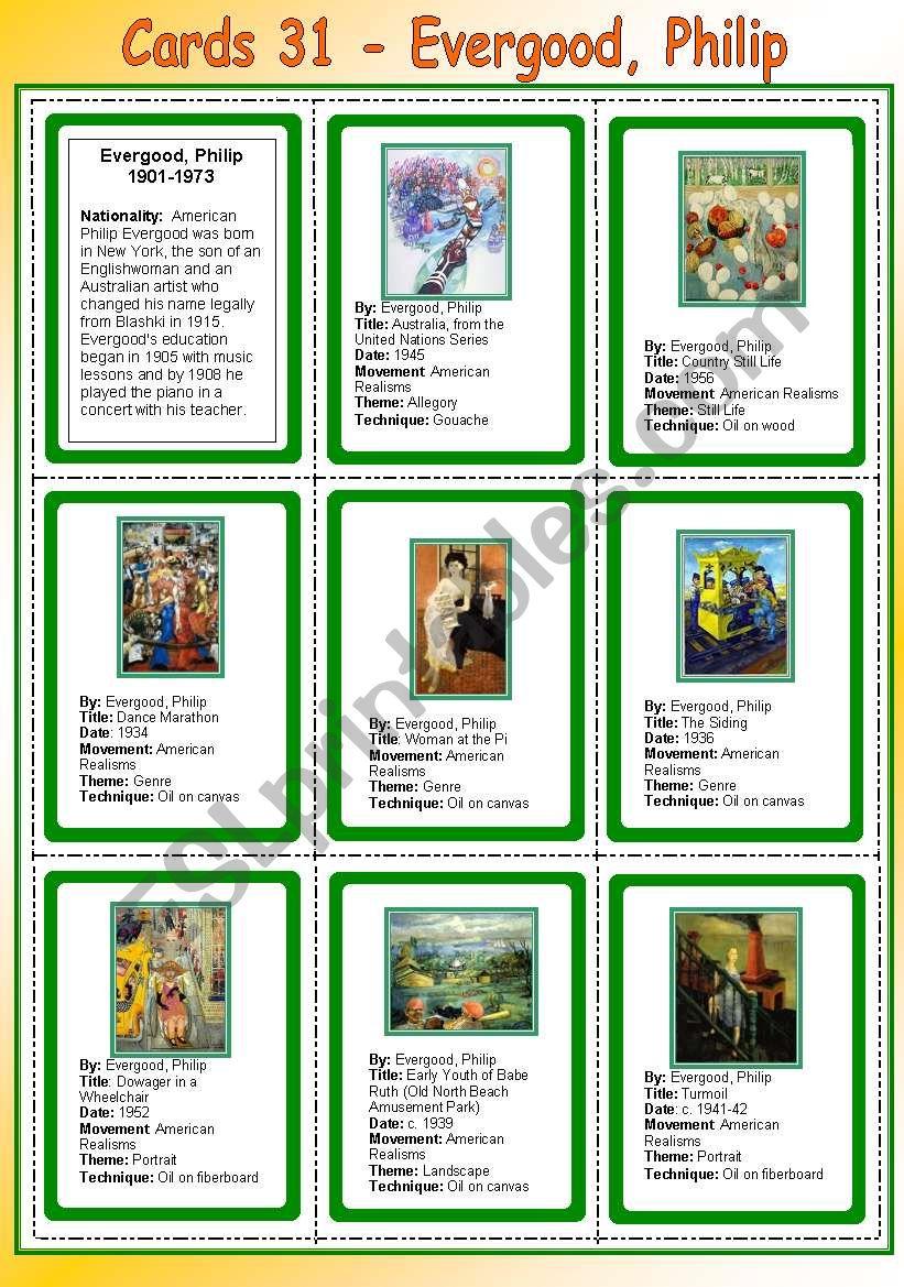 Cards 31 - Evergood, Philip (American Realisms)