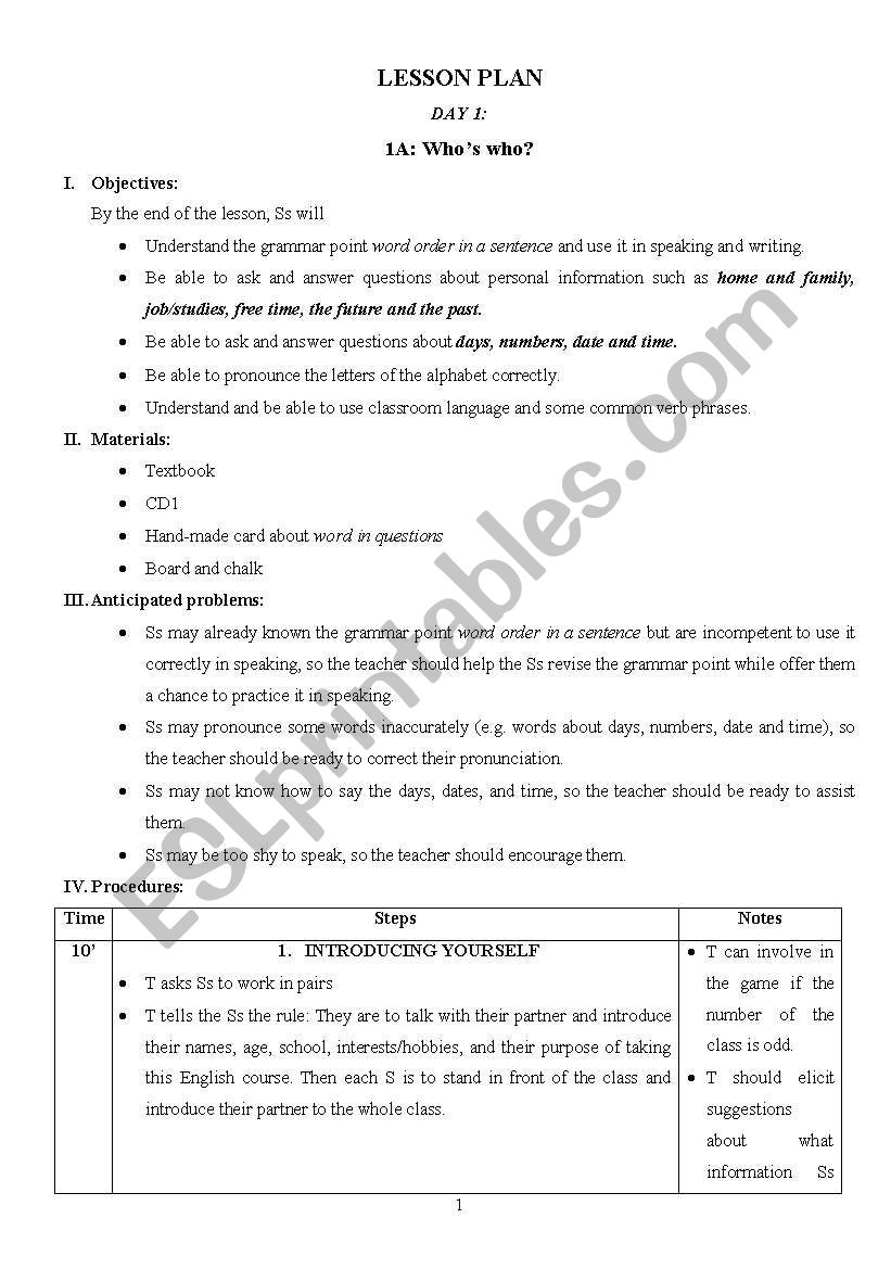 Lesson plan for new english file pre intermediate esl worksheet by lesson plan for new english file pre intermediate fandeluxe Gallery