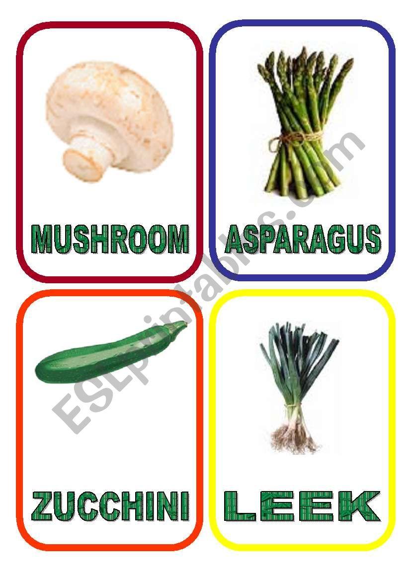 Vegetables flash-cards - PART 3