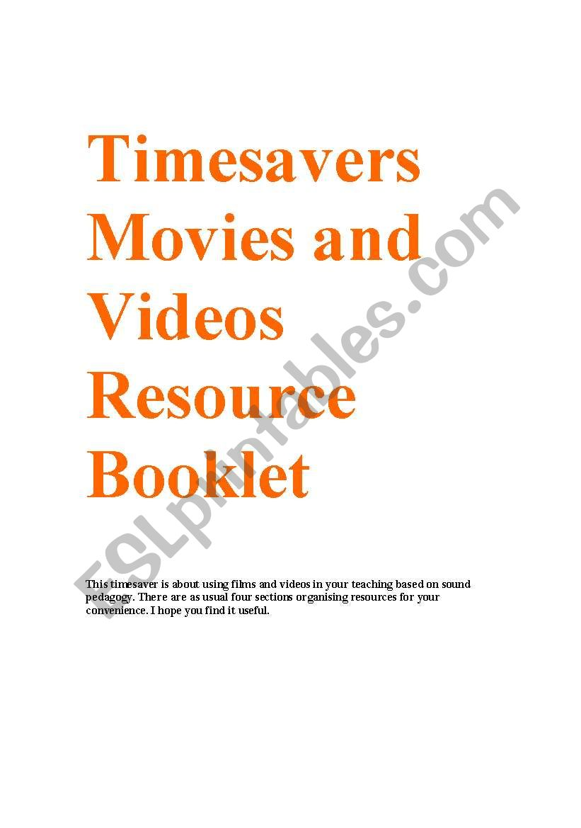 Timesavers Movies and videos resource Booklet