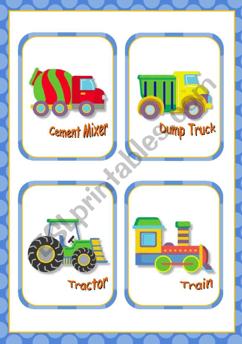 Means of Transport Flash cards  -  15
