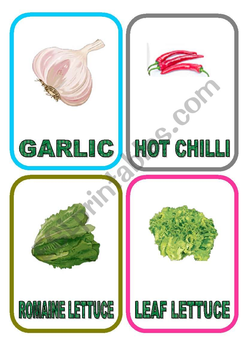 Vegetable flash-cards - PART 4
