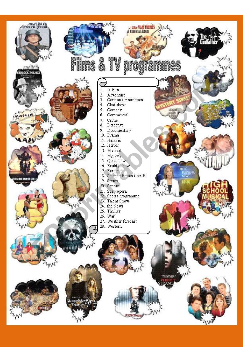 Films and TV programmes - Part 1