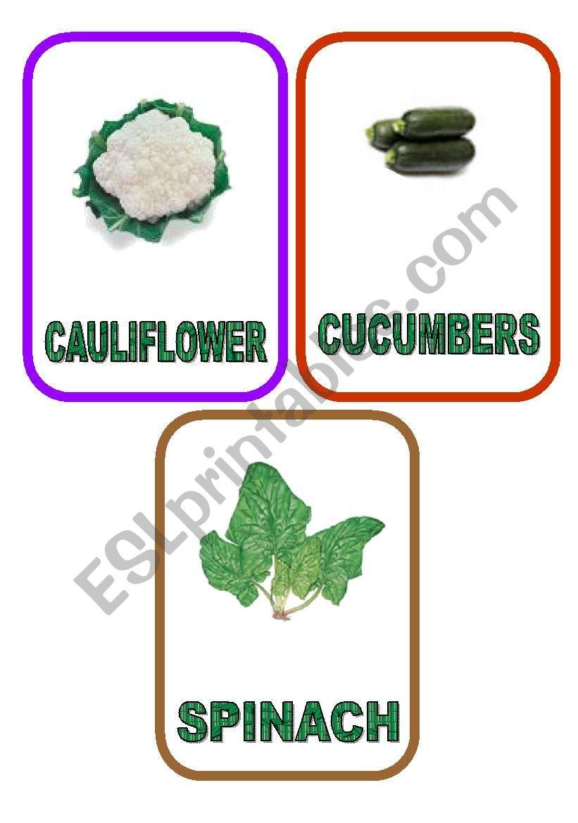 Vegetable flash-cards - PART 7