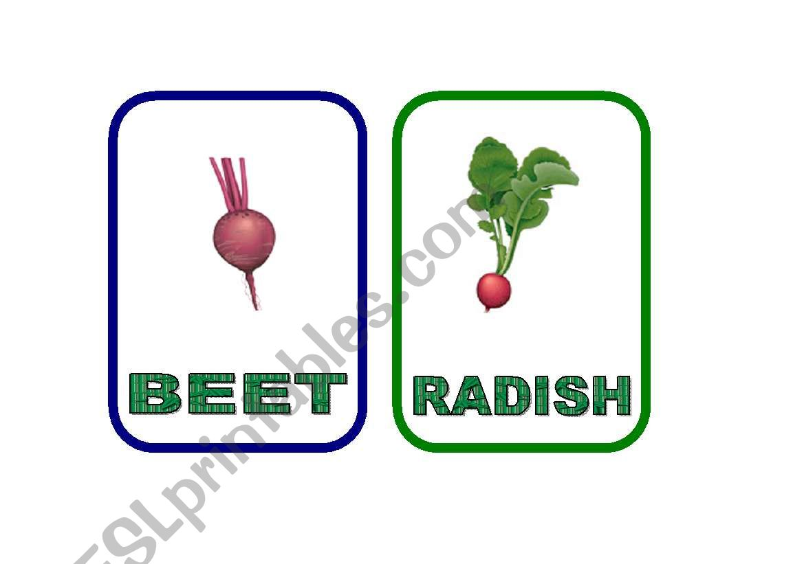 Vegetable flash-cards - PART 8 (THE LAST ONE!!!!)