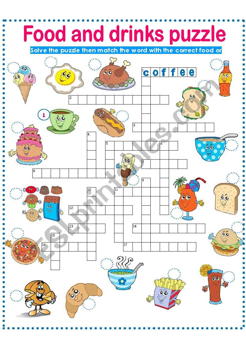 FOOD AND DRINKS-PUZZLE PART 2!