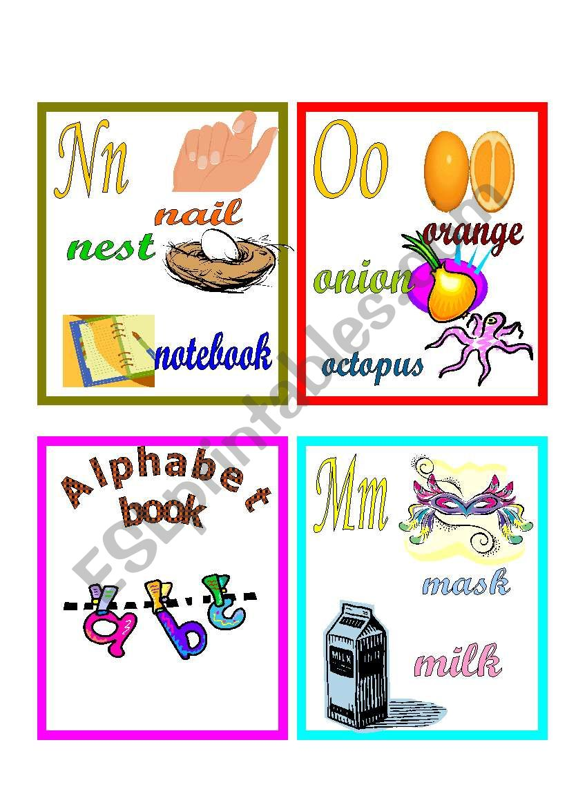 alphabet book cover page