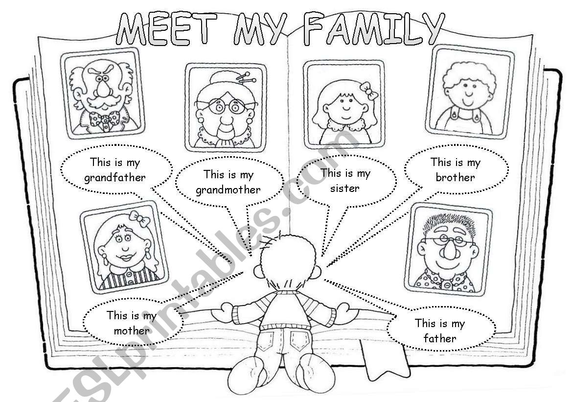 Meet my family worksheet