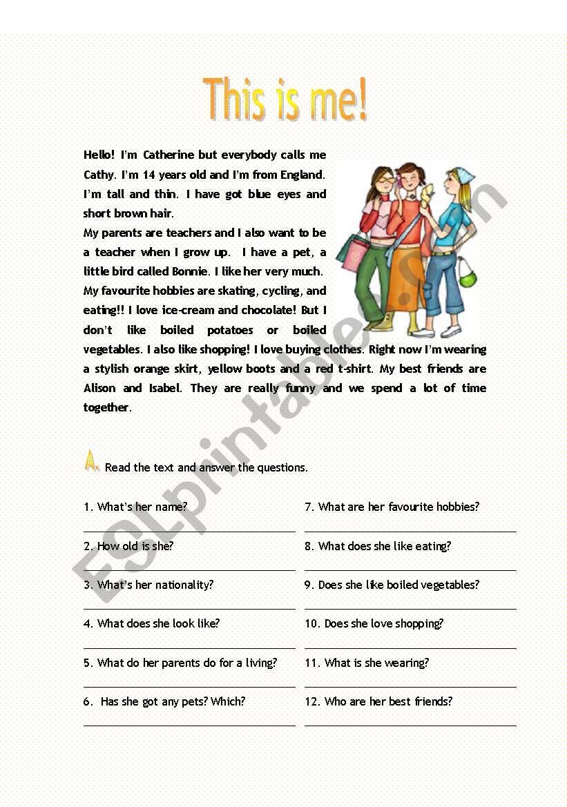 Reading worksheet worksheet