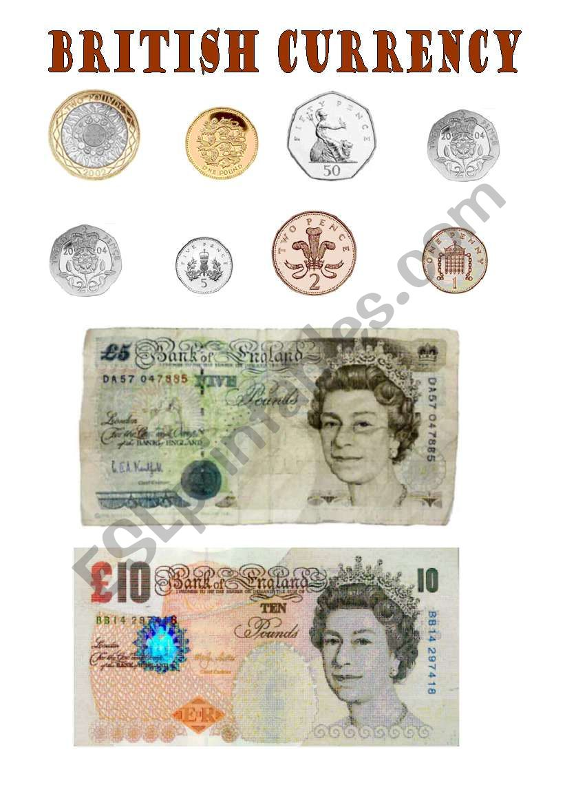 british currency esl worksheet by mjotab. Black Bedroom Furniture Sets. Home Design Ideas
