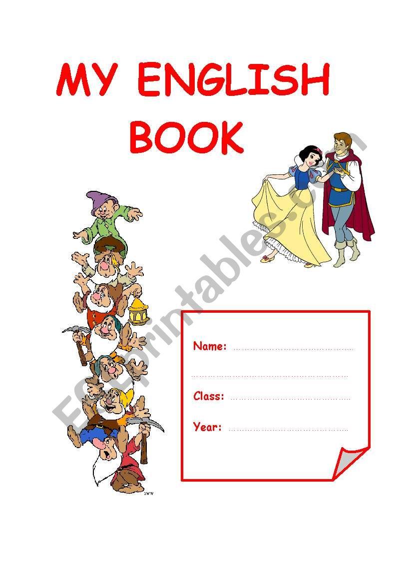 cover for an english book    portfolio