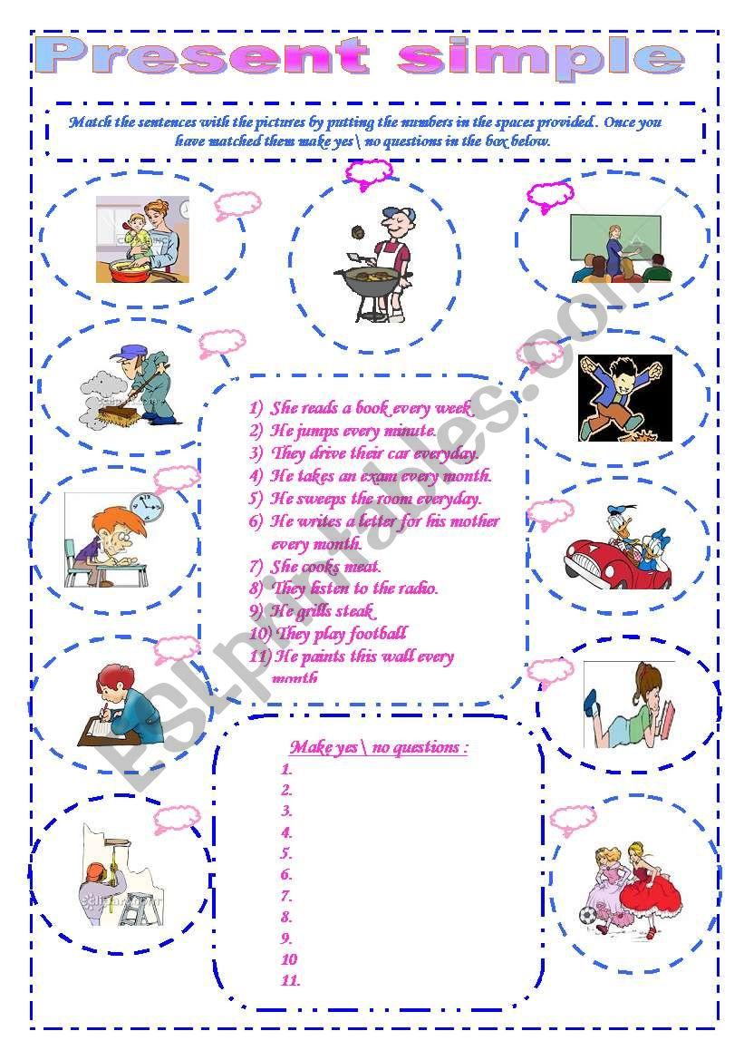 The present simple worksheet