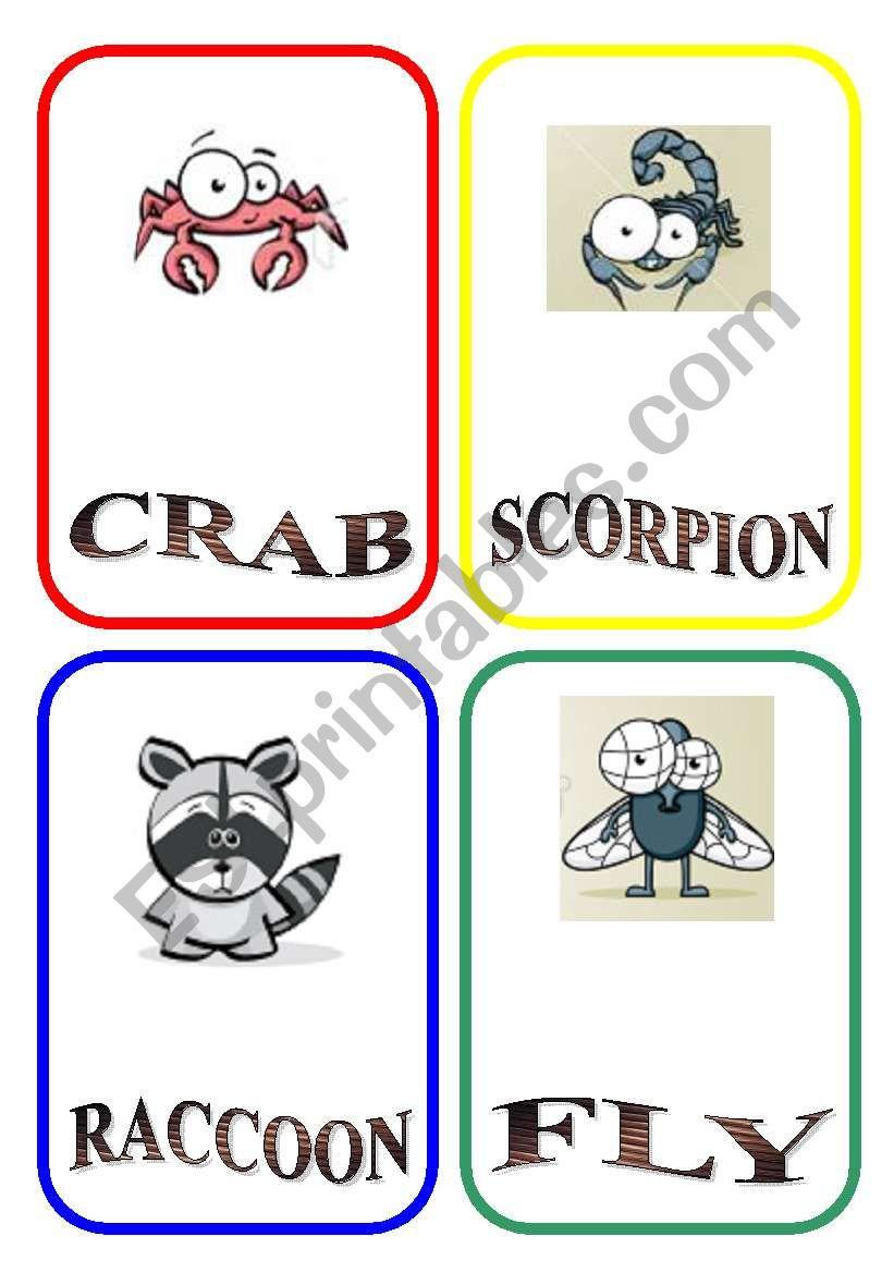 ANIMAL FLASH-CARDS - PART 3 worksheet