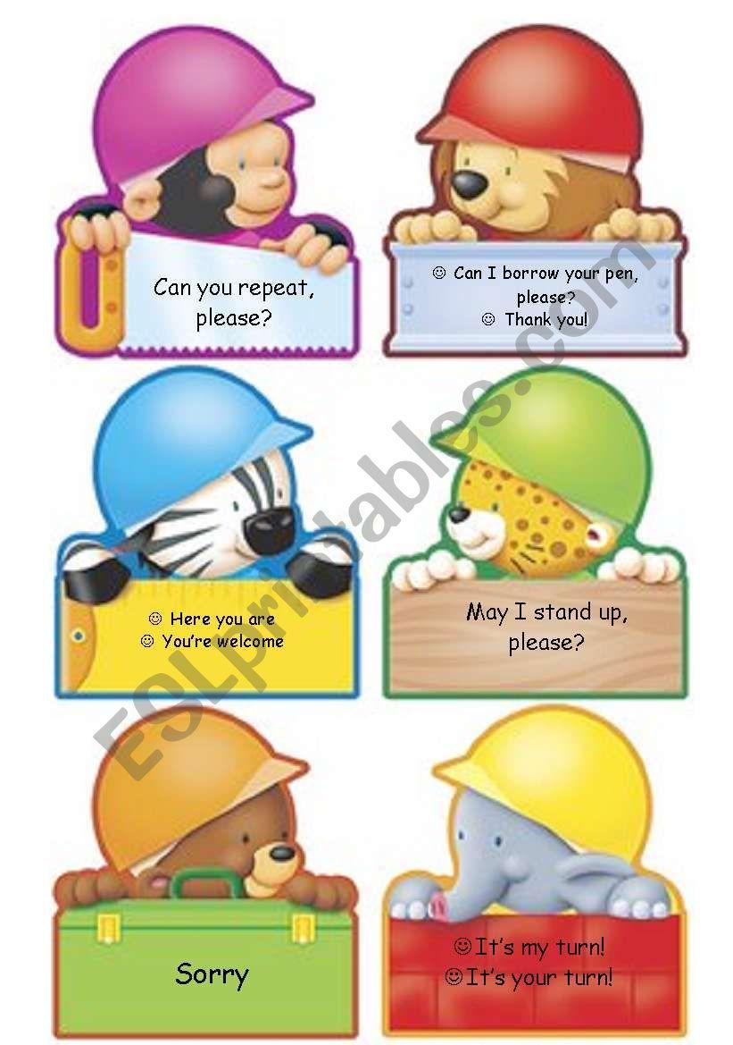 Classroom Language poster (part 2)
